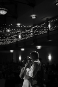 silverthorne-pavillion, silverthorne-wedding-reception, colorado-reception-venue, colorado-wedding-photographer, first-dance, black-and-white