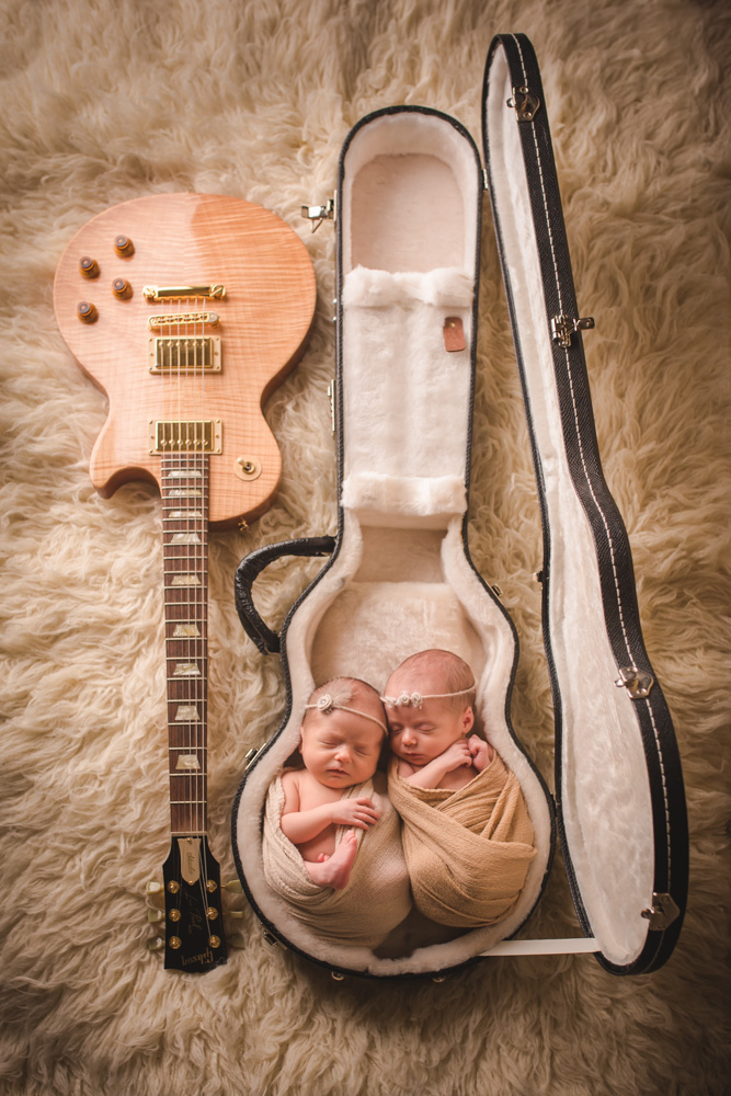 babies-in-guitar-case, baby-twin-girls, newborn-photographer-denver
